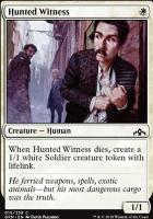 Guilds of Ravnica Foil: Hunted Witness