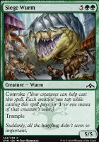 Guilds of Ravnica Foil: Siege Wurm