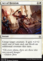 Hour of Devastation Foil: Act of Heroism