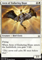 Hour of Devastation Foil: Aven of Enduring Hope