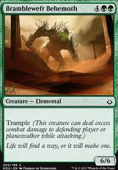 Hour of Devastation: Brambleweft Behemoth (Planeswalker Deck)