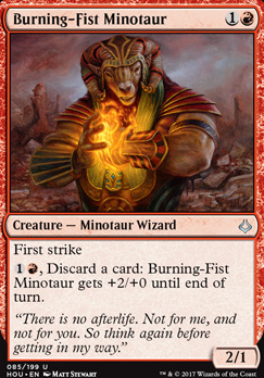 Hour of Devastation Foil: Burning-Fist Minotaur