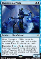 Hour of Devastation Foil: Champion of Wits