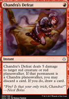 Hour of Devastation Foil: Chandra's Defeat