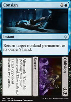 Hour of Devastation Foil: Consign // Oblivion