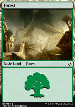 Hour of Devastation Foil: Forest (198 A)