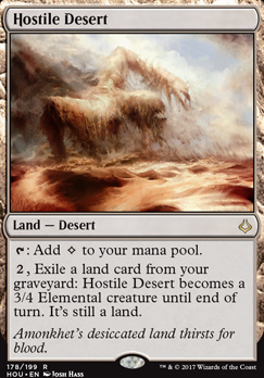 Hour of Devastation Foil: Hostile Desert