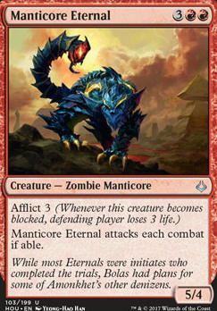 Hour of Devastation Foil: Manticore Eternal
