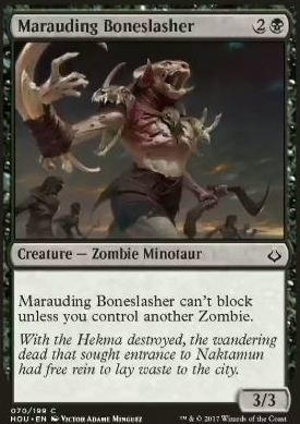 Hour of Devastation Foil: Marauding Boneslasher