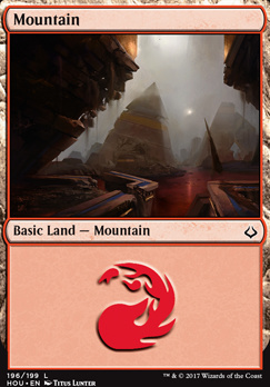 Hour of Devastation Foil: Mountain (196 A)