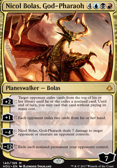 Hour of Devastation Foil: Nicol Bolas, God-Pharaoh