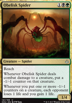 Hour of Devastation Foil: Obelisk Spider