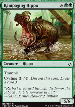 Hour of Devastation Foil: Rampaging Hippo