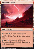 Hour of Devastation Foil: Ramunap Ruins