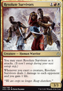 Hour of Devastation Foil: Resolute Survivors