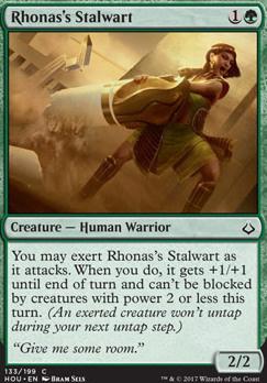 Hour of Devastation Foil: Rhonas's Stalwart