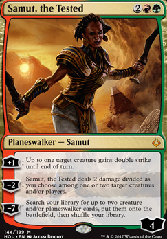 Hour of Devastation Foil: Samut, the Tested