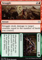 Hour of Devastation Foil: Struggle // Survive