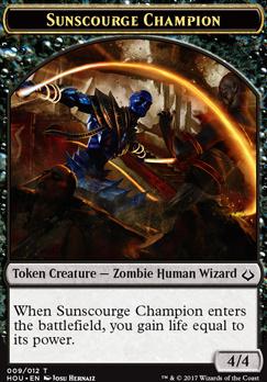 Hour of Devastation: Sunscourge Champion Token