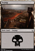Hour of Devastation Foil: Swamp (194 A)