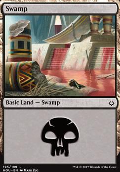 Hour of Devastation Foil: Swamp (195 B)