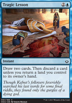 Hour of Devastation Foil: Tragic Lesson