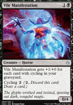 Hour of Devastation Foil: Vile Manifestation