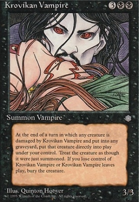 magic the gathering cards ice age krovikan vampire. Black Bedroom Furniture Sets. Home Design Ideas