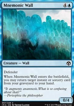 Iconic Masters Foil: Mnemonic Wall