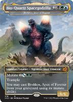 Ikoria: Lair of Behemoths Variants Foil: Brokkos, Apex of Forever (Bio-Quartz Spacegodzilla - Godzilla Series)