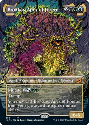Ikoria: Lair of Behemoths Variants: Brokkos, Apex of Forever (Showcase)