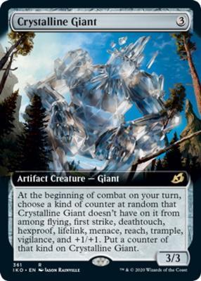 Lair of Behemoths Crystalline Giant  FOIL  Showcase Extended MTG Ikoria