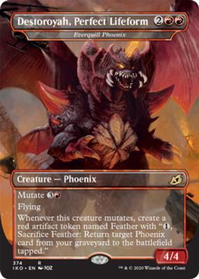Ikoria: Lair of Behemoths Variants Foil: Everquill Phoenix (Destoroyah, Perfect Lifeform - Godzilla Series)