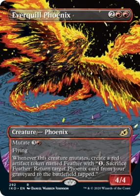 Ikoria: Lair of Behemoths Variants: Everquill Phoenix (Showcase)