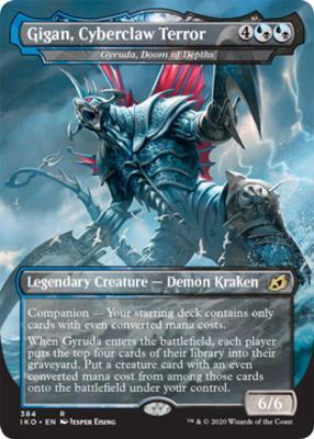 Ikoria: Lair of Behemoths Variants: Gyruda, Doom of Depths (Gigan, Cyberclaw Terror - Godzilla Series)