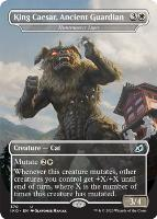 Ikoria: Lair of Behemoths Variants Foil: Huntmaster Liger (King Caesar, Ancient Guardian - Godzilla Series)