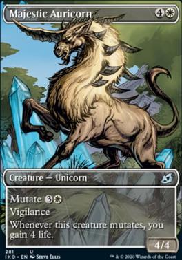 Ikoria: Lair of Behemoths Variants: Majestic Auricorn (Showcase)
