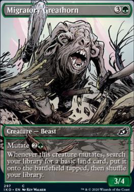 Ikoria: Lair of Behemoths Variants: Migratory Greathorn (Showcase)