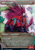 Ikoria: Lair of Behemoths Variants: Porcuparrot (Showcase)