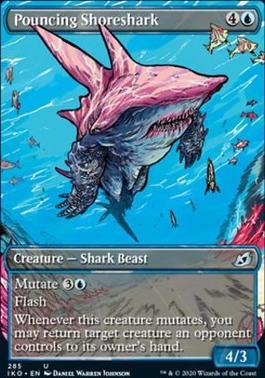 Ikoria: Lair of Behemoths Variants Foil: Pouncing Shoreshark (Showcase)