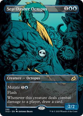 Ikoria: Lair of Behemoths Variants: Sea-Dasher Octopus (Showcase)