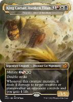 Ikoria: Lair of Behemoths Variants Foil: Snapdax, Apex of the Hunt (King Caesar, Awoken Titan - Godzilla Series)