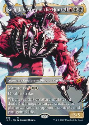 Ikoria: Lair of Behemoths Variants: Snapdax, Apex of the Hunt (Showcase)