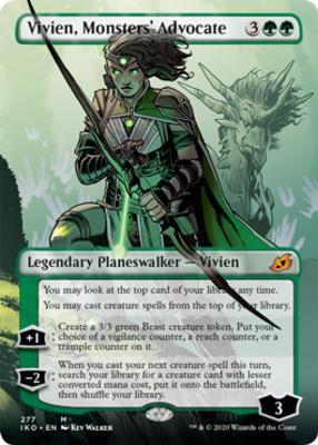Ikoria: Lair of Behemoths Variants Foil: Vivien, Monsters' Advocate (Borderless)