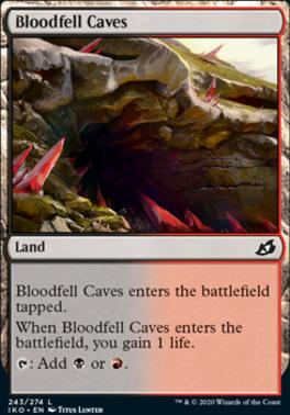 Ikoria: Lair of Behemoths Foil: Bloodfell Caves