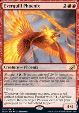 Ikoria: Lair of Behemoths Foil: Everquill Phoenix