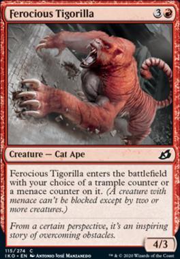 Ikoria: Lair of Behemoths Foil: Ferocious Tigorilla