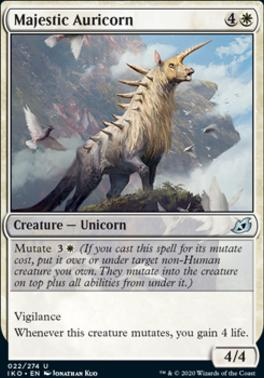 Ikoria: Lair of Behemoths Foil: Majestic Auricorn