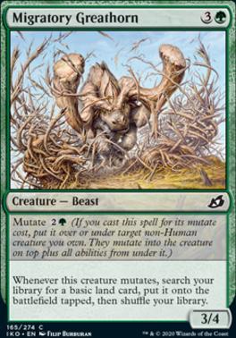Ikoria: Lair of Behemoths Foil: Migratory Greathorn