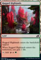 Ikoria: Lair of Behemoths Foil: Rugged Highlands